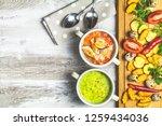 concept of healthy vegetable...   Shutterstock . vector #1259434036