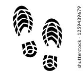 footprint silhouette isolated   Shutterstock .eps vector #1259439679