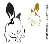 Stock vector vector image of an rabbit on white background 125944466