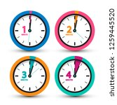 clock icons set. vector time... | Shutterstock .eps vector #1259445520