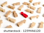 red human figure among many...   Shutterstock . vector #1259446120