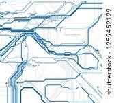 circuit board  digital chip... | Shutterstock .eps vector #1259452129