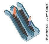two direction escalator icon.... | Shutterstock .eps vector #1259453836