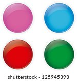 pack of simply glossy buttons... | Shutterstock .eps vector #125945393