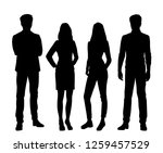 set of vector silhouettes of ... | Shutterstock .eps vector #1259457529
