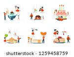 set of oversize dish and mini... | Shutterstock .eps vector #1259458759