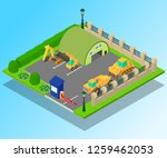 construction machinery concept... | Shutterstock .eps vector #1259462053