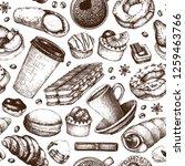 breakfast seamless pattern.... | Shutterstock .eps vector #1259463766