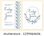 wedding invitation. modern... | Shutterstock .eps vector #1259464636