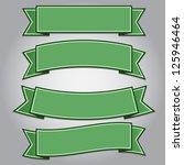 set of green ribbon banners... | Shutterstock .eps vector #125946464