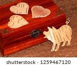 handmade mahogany jewelry box | Shutterstock . vector #1259467120