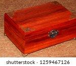 handmade mahogany jewelry box | Shutterstock . vector #1259467126