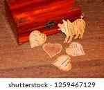 handmade mahogany jewelry box | Shutterstock . vector #1259467129