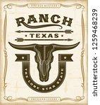 vintage western ranch label...   Shutterstock .eps vector #1259468239