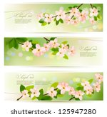Постер, плакат: Three spring banners with