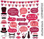 valentine s day vector photo... | Shutterstock .eps vector #1259485510