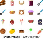 color flat icon set cake flat... | Shutterstock .eps vector #1259486980