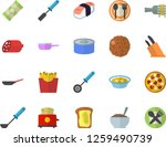 color flat icon set frying pan... | Shutterstock .eps vector #1259490739