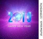 new year party card with... | Shutterstock .eps vector #1259495476