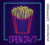 French Fries Neon Sign With...