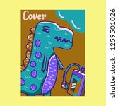 cute kids monster cover and... | Shutterstock .eps vector #1259501026