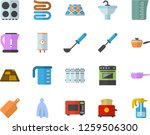 color flat icon set sink flat...   Shutterstock .eps vector #1259506300