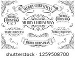 set of christmas  frames.... | Shutterstock .eps vector #1259508700