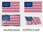 flag of the us 33 stars fort... | Shutterstock .eps vector #1259511160
