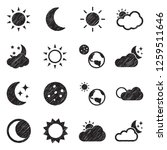 sun and moon icons. black... | Shutterstock .eps vector #1259511646