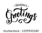season's greetings brush... | Shutterstock .eps vector #1259533180