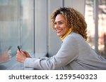 side portrait of beautiful... | Shutterstock . vector #1259540323