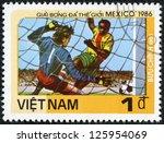 vietnam   circa 1985  a stamp...   Shutterstock . vector #125954069