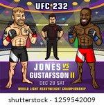 ufc 232. jones vs. gustafsson 2....   Shutterstock .eps vector #1259542009