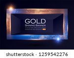 elegant shining banner with... | Shutterstock .eps vector #1259542276