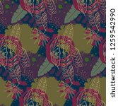 beautiful seamless pattern with ... | Shutterstock .eps vector #1259542990