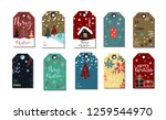 christmas tags cute collection | Shutterstock .eps vector #1259544970