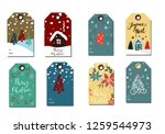 christmas tags cute collection | Shutterstock .eps vector #1259544973
