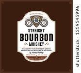 vector vintage bourbon label on ... | Shutterstock .eps vector #1259545996