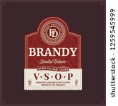 vector brandy label isolated on ... | Shutterstock .eps vector #1259545999