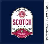 vector vintage scotch whisky... | Shutterstock .eps vector #1259546053