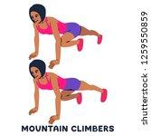 mountain climbers. sport... | Shutterstock .eps vector #1259550859