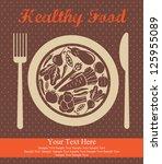 healthy food card design.... | Shutterstock .eps vector #125955089