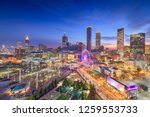 atlanta  georgia  usa downtown... | Shutterstock . vector #1259553733