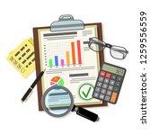 auditing  tax process... | Shutterstock .eps vector #1259556559