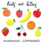 organic  fresh and natural... | Shutterstock .eps vector #1259560603
