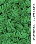 tropical seamless pattern with... | Shutterstock .eps vector #1259565346