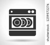 monochromatic dishwashing... | Shutterstock . vector #1259572276