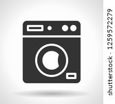 monochromatic clothes washer... | Shutterstock . vector #1259572279