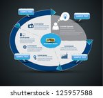 background circle system loop... | Shutterstock .eps vector #125957588