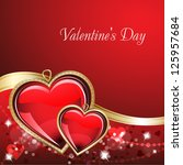 st. valentine's day. card with... | Shutterstock .eps vector #125957684